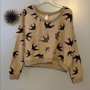 Swallow crop sweatshirt, size XL
